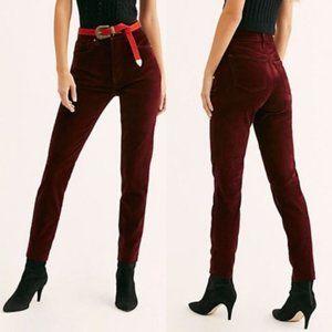 FREE PEOPLE Stella Velvet High-Rise Skinny Jeans